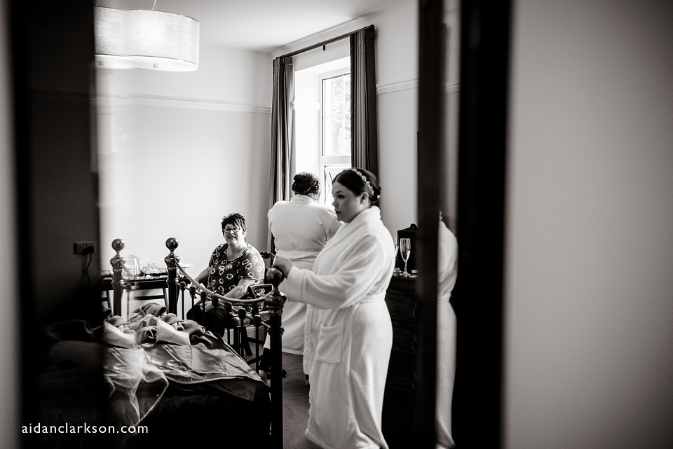bridal preparations at hemswell court