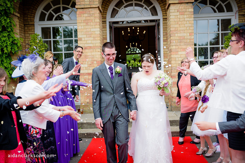 confetti photos at hemswell court